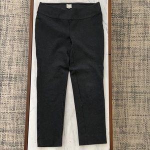 Ecru work pants. Dark grey